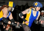 San Francisco ShEvil Dead vs. Richmond Wrecking Belles. Photography by D.E.sign
